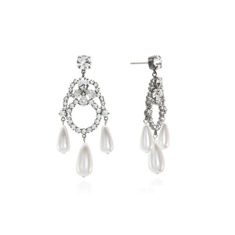 [VINTAGE HOLLYWOOD] Dramatic Holiday Water Drop Pearl Earrings K-star Lee Da Hee - BEST BEAUTIP
