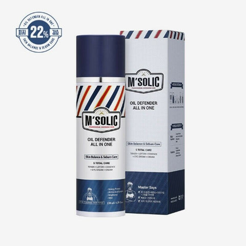 [M'Solic] Oil Defender All in one 130ml / 4.39oz for Man's Oily Skin K-beauty - BEST BEAUTIP