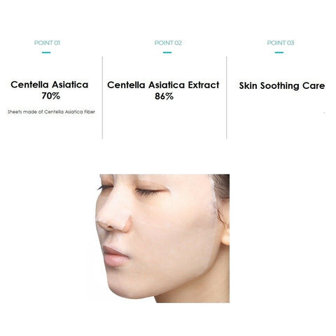 [TIRTIR] Real CICA Calming Mask 5ea K-beauty Centella Asiatica Extract 86% - BEST BEAUTIP