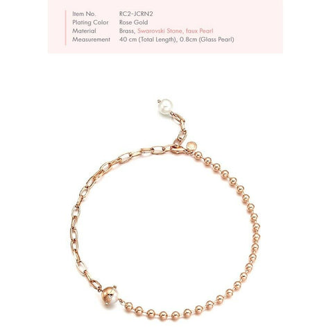 [RITA MONICA] Rose Gold Plated La Perla Choker Necklace with Box packing K-beauty - BEST BEAUTIP