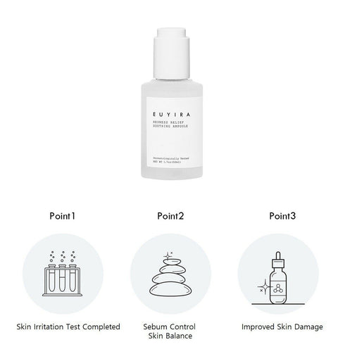 [EUYIRA] Redness Relief Soothing Ampoule 50ml / 1.7oz with Glacier Water K-beauty - BEST BEAUTIP