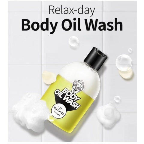 [VILLAGE 11 FACTORY] Relax-Day Body Oil Wash 300ml/10oz Body Cleanser K-beauty - BEST BEAUTIP