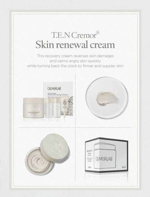 [Cremorlab] T.E.N Cremor Skin Renewal Cream 45g / 1.58oz K-beauty Allure 99% - BEST BEAUTIP