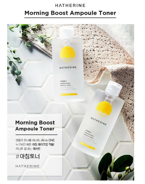twinkidea - [HATHERINE] Morning Boost Ampoule Toner 300ml/10oz with bomboo water 83% K-beauty - HATHERINE - Toners