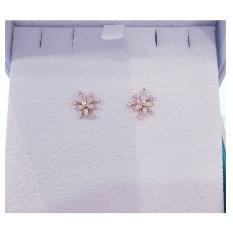 [STONE HENGE] 14K Rose Gold Petal Earrings T1240  with Case K-beauty - BEST BEAUTIP