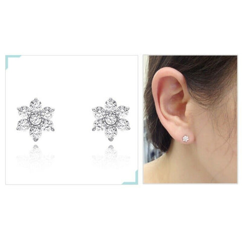 [STONE HENGE ] Silver 925 Flower Cubic Earrings K0199 with Case K-beauty - BEST BEAUTIP