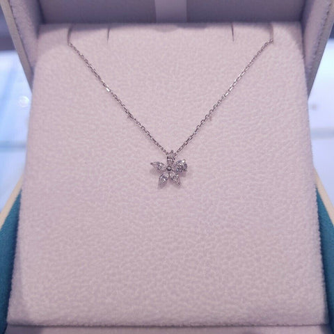 [STONE HENGE] SILVER 925 Cubic Flower Necklace K1153 with Case K-DRAMA tvN - BEST BEAUTIP