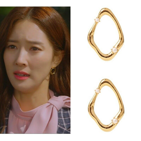 [PRIMAUTE] MEMORY_01 Gold - Pearl Earrings K-beauty Drama sponsor - BEST BEAUTIP