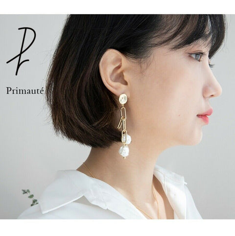 [PRIMAUTE] Bold Chain Pearl Earrin K-beauty Wear CHUNG HA - BEST BEAUTIP