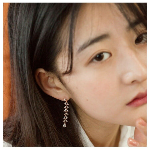 [JUDY AND PAUL] ELIZA Mini Bell Crystal Drop Earrings E51006 K-beauty
