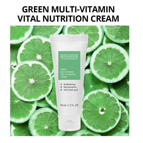 [BONAJOUR] Green Multi-Vitamin Vital Nutrition Cream 50ml/1.7oz K-beauty - BEST BEAUTIP