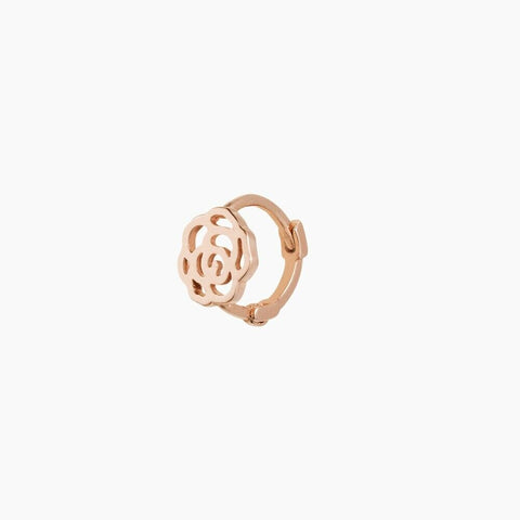[KINT] 14K Gold Flat Rose One Touch Earrings 1Piece with case K-beauty - BEST BEAUTIP