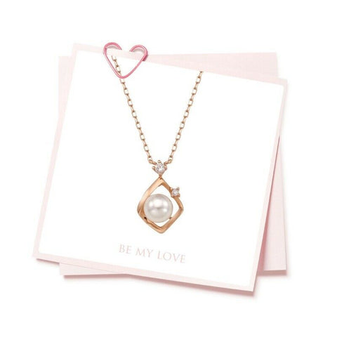 [LLOYD] 14K Pink Gold Wave Pearl Necklace LNN20002G with case K-beauty - BEST BEAUTIP