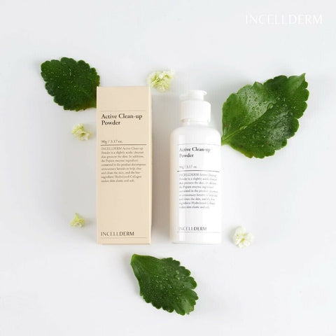 [INCELLDERM] Active Clean-up Powder 90g / 3.17 fl.oz wkth Papain K-beauty - BEST BEAUTIP
