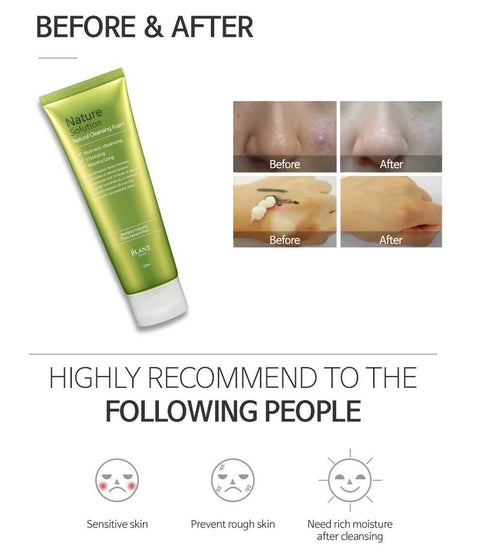 [The Plant Base] Nature Solution Natural Cleansing Foam 120ml with Bamboo extract - BEST BEAUTIP