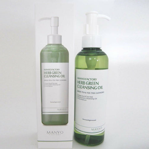 [Manyo Factory] Herb Green Cleansing Oil 200ml /6.76oz K-beauty 100% Vegetable Oil - BEST BEAUTIP