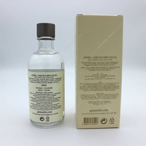[GRAYMELIN] Smiley Tonight Snail Nutry Toner 130ml / 4.39oz K-beauty - BEST BEAUTIP
