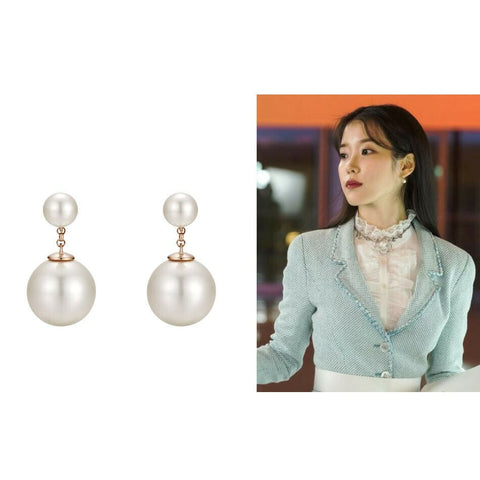 [J.ESTINA] Duette Earrings JJT1EI3AH745SV000 with Case j estina IU Hotel DelLuna - BEST BEAUTIP