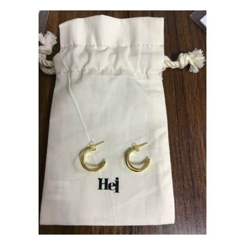 [Hei] Silver 925 Two-String Hoop Earring 300686486 K-beauty Gold color - BEST BEAUTIP