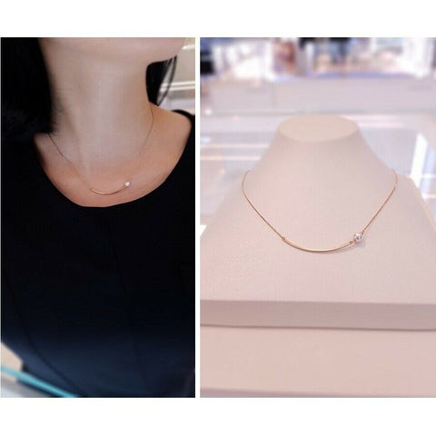 [STONE HENGE] SILVER 925 Stick Bar Pearl Necklace K1249 with Case K-beauty - BEST BEAUTIP