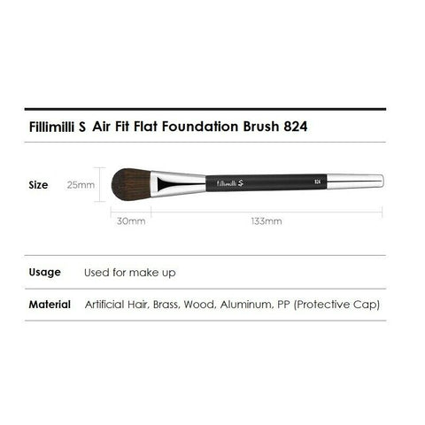 [Fillimilli] S Air Fit Flat Foundation Brush 824 K-beauty olive young - BEST BEAUTIP