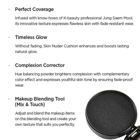 [JUNGSAEMMOOL] Essential Skin Nuder Cushion SPF50+ PA+++ (+refill) K-beauty - BEST BEAUTIP