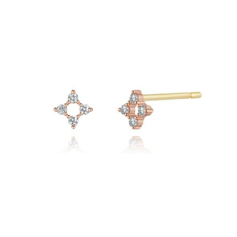 [STONE HENGE ] 14K Rose Gold Cubic Earrings G1664 with Case K-beauty - BEST BEAUTIP