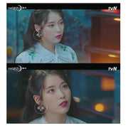 [JEALOUSY] With Flower Earring K-drama IU Wearing of tvN Drama Hotel DelLuna - BEST BEAUTIP