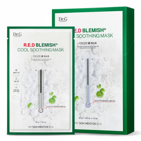 [Dr.G] R.E.D Blemish Cool Soothing Mask 1box (10ea) K-beauty Cooling Effect - BEST BEAUTIP