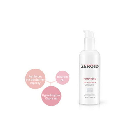 [ZEROID] Pimprove Gel Cleanser 180ml / 6oz K-beauty hypoallergenic for oily skin - BEST BEAUTIP
