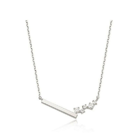 [STONE HENGE] SILVER 925 Unbalanced Necklace K0945 with Case K-beauty - BEST BEAUTIP