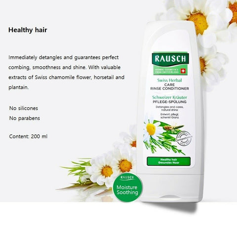 [RAUSCH] Swiss Herbal Care Rinse Conditioner 200ml / 6.76oz with Chamomile - BEST BEAUTIP
