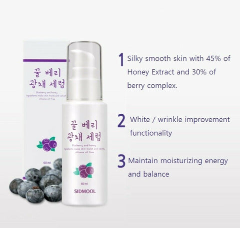 [Sidmool] Honey Berry Sparkle Serum 60ml / 2oz with Honey Extract 45% K-beauty - BEST BEAUTIP