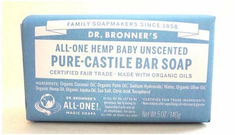 [Dr. Bronner's] Hemp Pure Castile Bar Soap 5 oz/140g 1pcs - BEST BEAUTIP