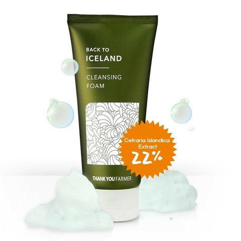 [THANK YOU FARMER] Back To Iceland Cleansing Foam 120ml / 4.22 fl.oz K-beauty - BEST BEAUTIP