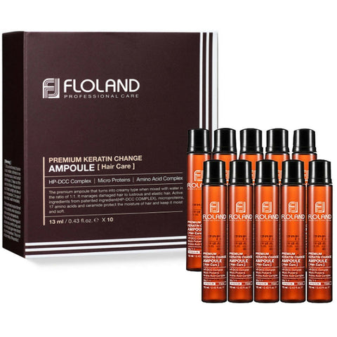 [Floland] Premium Keratin Change Hair Ampoule 13ml x 10pcs K-beauty - BEST BEAUTIP
