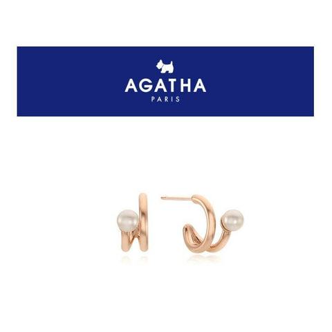 [AGATHA] Wind Pearl Silver Pearl Open Ring Earrings with case K-beauty - BEST BEAUTIP