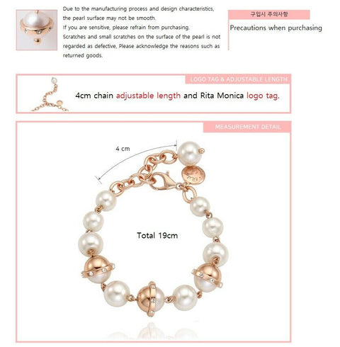 [RITA MONICA] White Gold Plated La Perla Bracelet RC2-JCWB1 with Packing K-beauty - BEST BEAUTIP