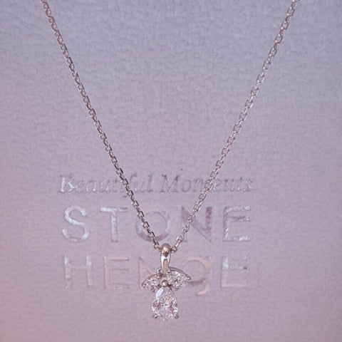 [STONE HENGE] SILVER 925 Water Drop Necklace N0044 with Case K-beauty - BEST BEAUTIP