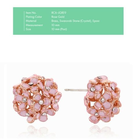 [RITA MONICA] SUGUK Ball Earrings RC6-JGRE9 with Box packing K-beauty
