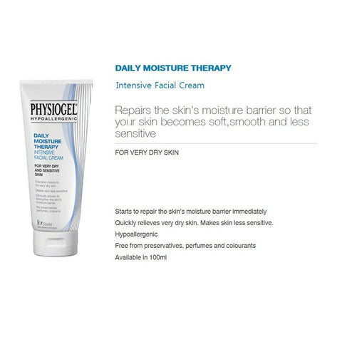 twinkidea - [PHYSIOGEL] Daily Moisture Therapy Intensive Facial Cream 100ml / 3.38oz - PHYSIOGEL - Creams