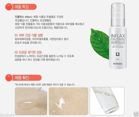 [Sidmool] INFLAX Pore Control Ampoule 60ml / 2oz for White head care k-beauty - BEST BEAUTIP