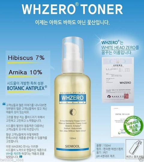 [Sidmool] White Head Zero Toner Whzero 150ml / 5oz Whitehead remove Toner K-beauty - BEST BEAUTIP