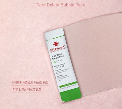 [Cell Fusion C] Tre.Ac Pore Delete Bubble Pack 5gx12ea Purifying/Soothing K-beauty - BEST BEAUTIP