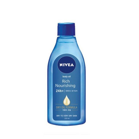 [NIVEA] Rich Nourishing 24h+ Body Oil with Almond Oil for Dry Skin 200ml - BEST BEAUTIP