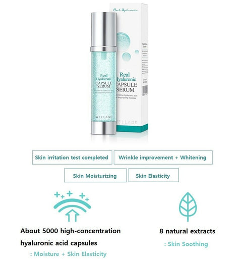 [Wellage] Real Hyaluronic Capsule Serum 50ml / 1.69oz K-beauty - BEST BEAUTIP