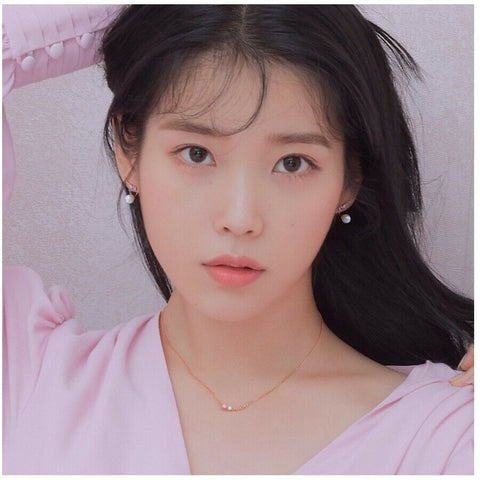 [J.ESTINA] Morganite Pink White Stone Silver Necklace with case K-beauty - BEST BEAUTIP