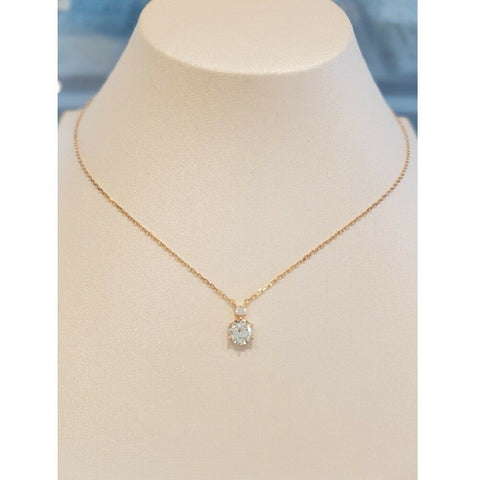[STONE HENGE] 14K Rose Gold Simple Cubic Necklace T0643 with Case K-beauty - BEST BEAUTIP