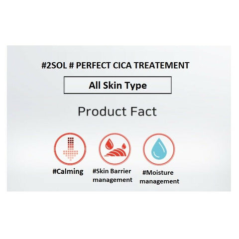 [2SOL] Perfect CiCA Treatment 30ml/1 oz K-beauty calming, moisturizing - BEST BEAUTIP