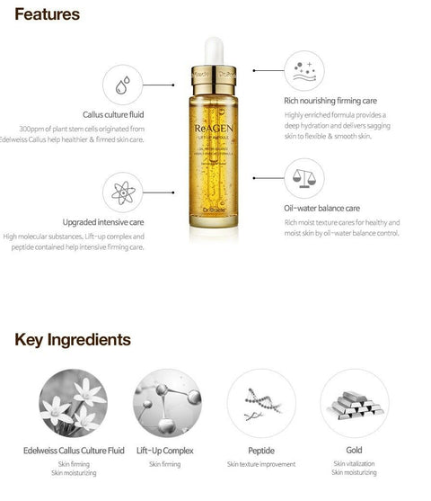[Dr.Oracle] ReAGEN Lift-Up Ampoule 30ml / 1oz with Peptide & Gold K-beauty - BEST BEAUTIP